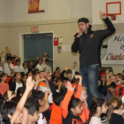 Fortis BC Energy Champions-BC Lions Visit | King Traditional Elementary